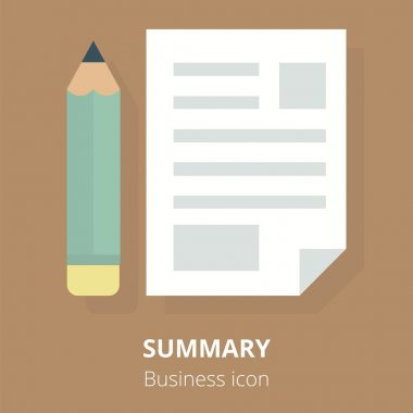 Business icon. Summary. Flat vector illustration.