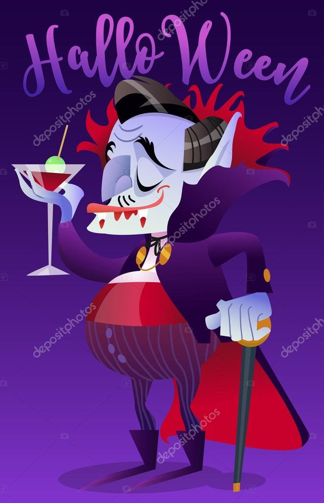 Открытка денег вампира