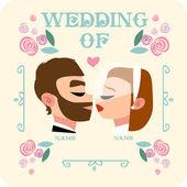 Fényképek Esküvői kártya vektor