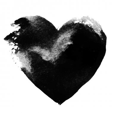 Set of Valentines - Grunge black heart background