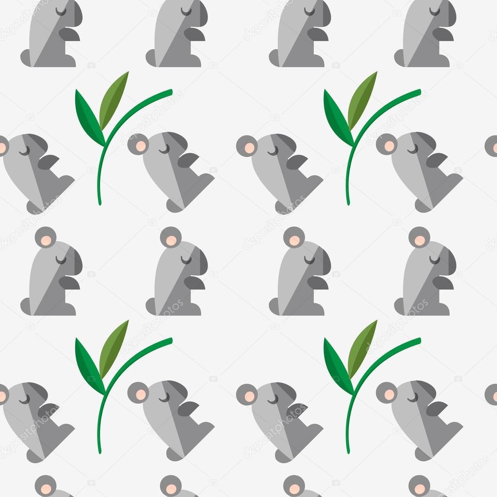 Patrón sin fisuras con un koala — Vector de stock © Katya_Bra #62040395