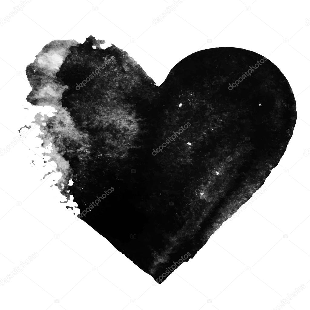 Set of Valentines - Grunge black heart background