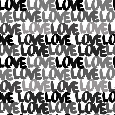 Love pattern. Pattern with letters