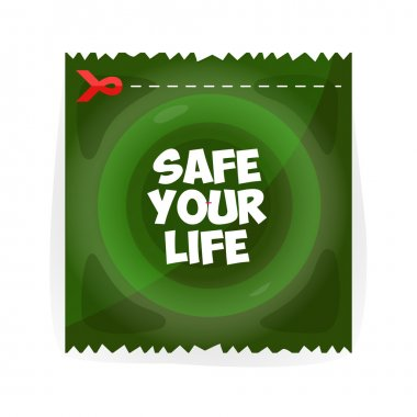 Save your life. Speed, green  symbol