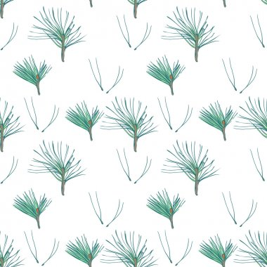 seamless pattern with pine