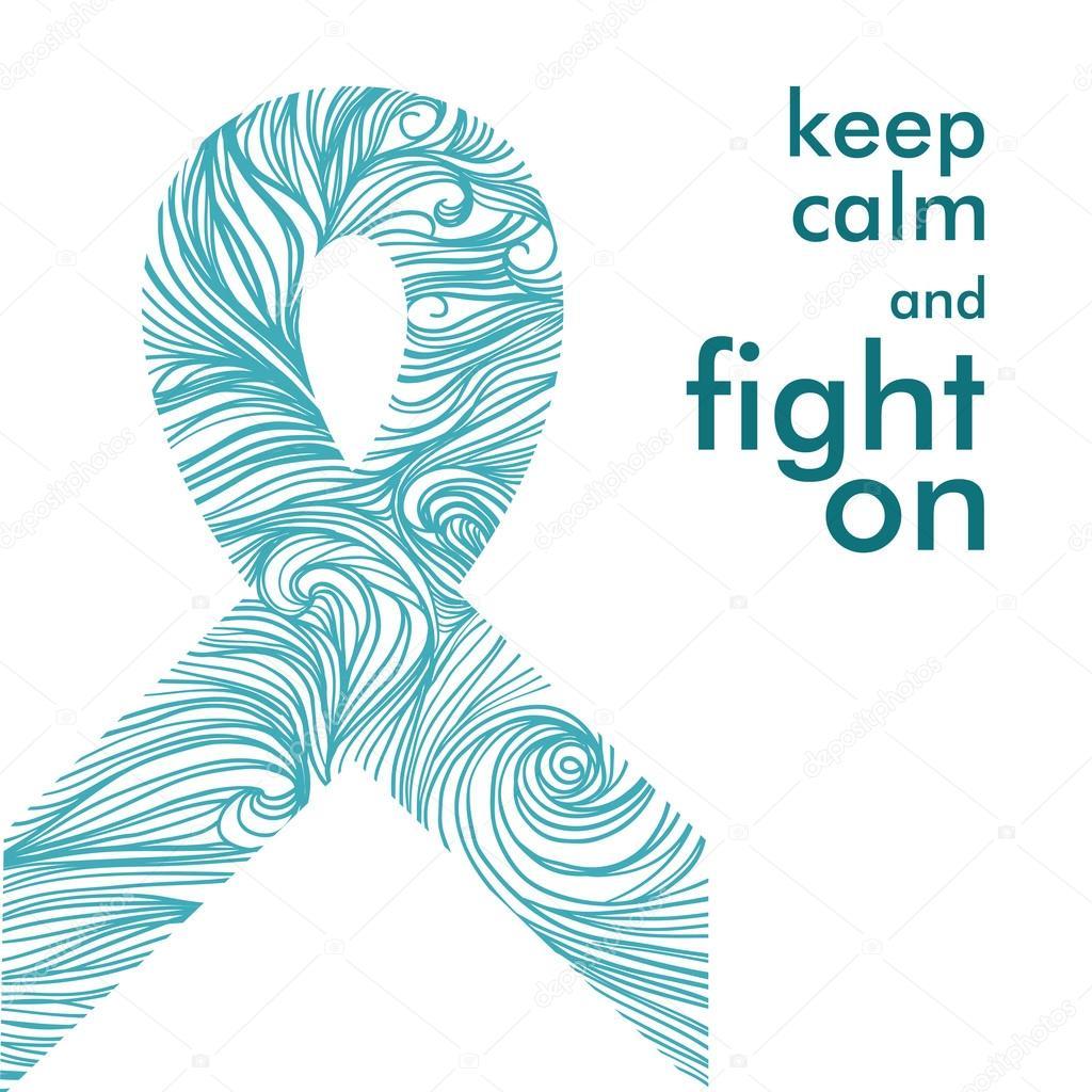 Fabulous symbool van de strijd tegen kanker — Stockvector © Katya_Bra #73532925 &QW64