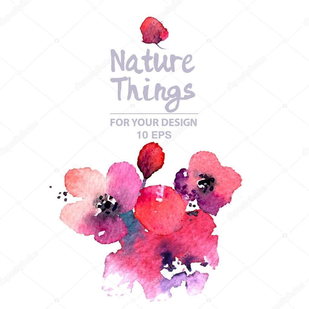 Watercoor Painted flowers