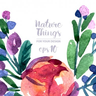 Watercolor Painted flowers.