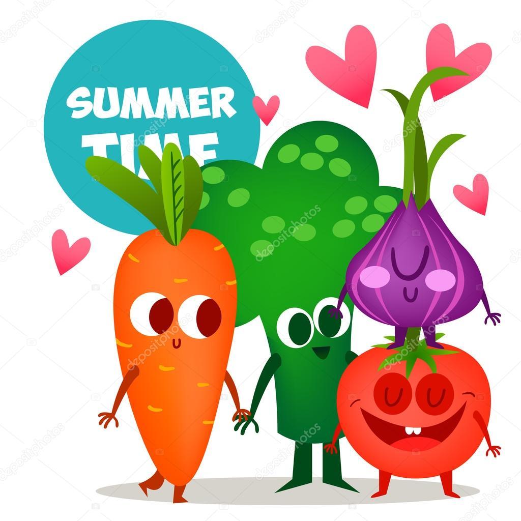 かわいい野菜のセット — ストックベクター © katya_bra #79252274