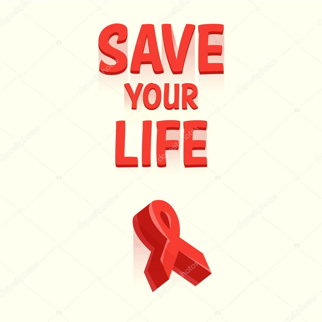 Red Ribbon Symbol Aids Hiv Stock Vector Katyabra 83196862
