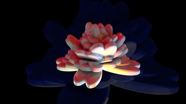 Digitální ilustrace Abstraktní květinové pozadí