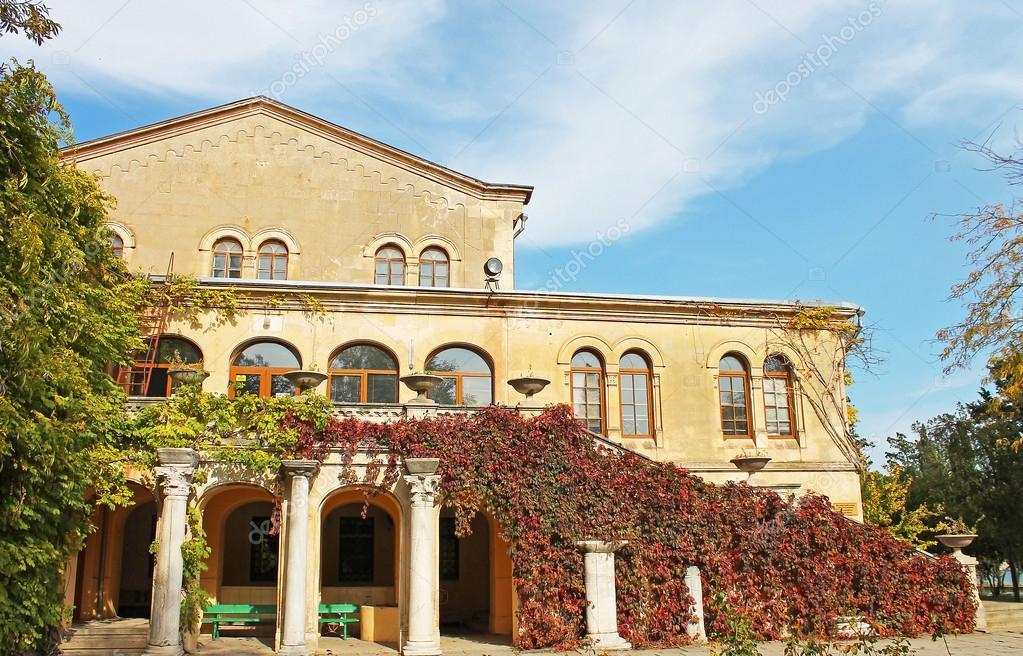 Perfect Fassade Des Hauses Mit Viel Grün Dekoriert. Sommer Gemütlichen Innenhof U2014  Foto Von Yaslex