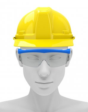 3d generated picture of personal protective equipment (work safe) stock vector
