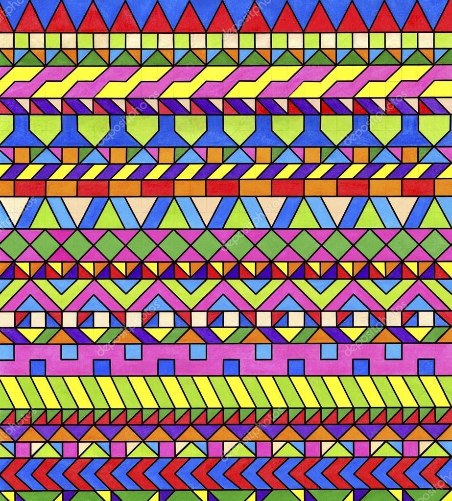 Modelli geometrici colorati motivi decorativi di colorati for Piani domestici di 2000 piedi quadrati