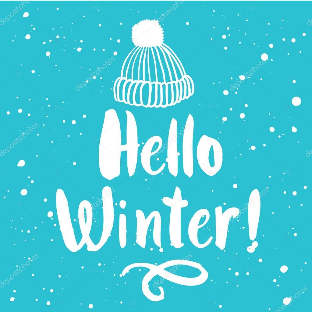 ホリデイ 帽子のイラストこんにちは冬 ストックベクター Monash