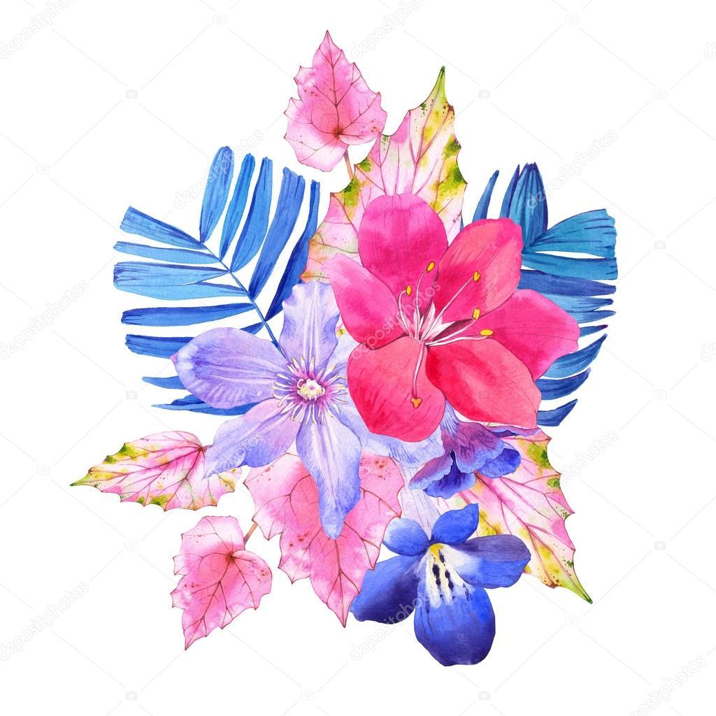 Ramo De Flores Dibujo Realista