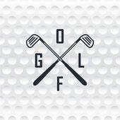 Textur eines Golfballs und Logo