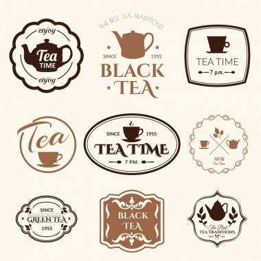 background with tea logo.