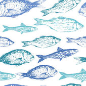 background with drawing fish.