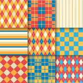 Photo Set of seamless patterns