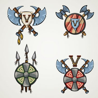 Cartoon Medieval  weapons.
