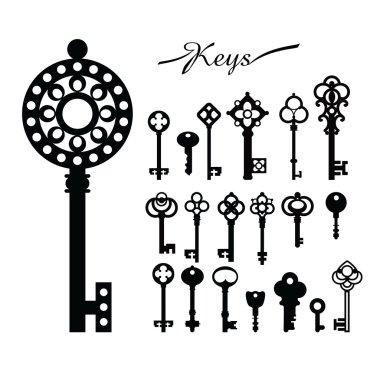Vintage keys set