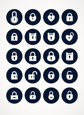 Set of locks icons
