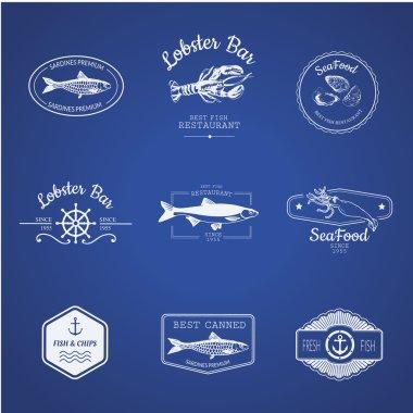 logo for fish restaurant or fish market