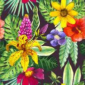 Vektoros illusztráció akvarell virágok.