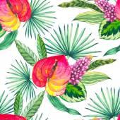 Vektorové ilustrace s květy, akvarel
