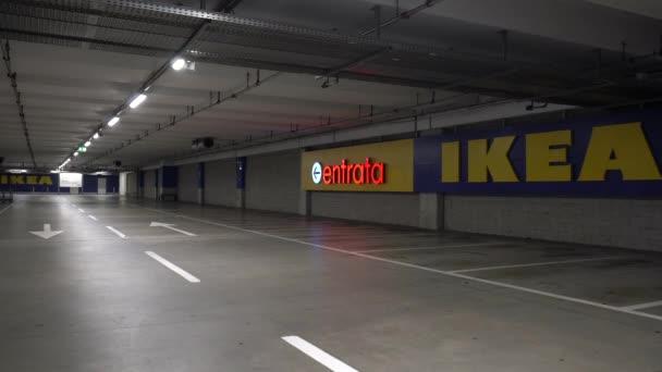 Italy, CIRCA 2019: Ikea store parking.