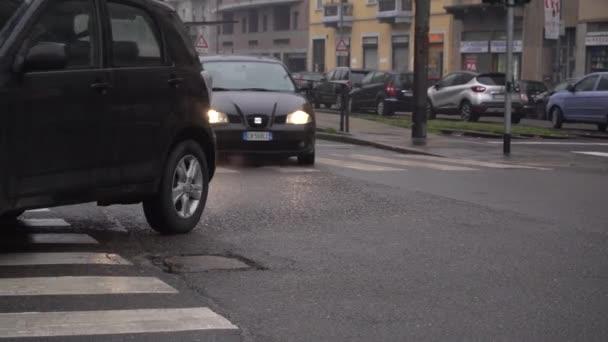 Italy , Milan January 2021, air pollution and traffic cars during Covid19 Coronavirus lockdown
