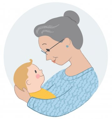 Elderly Woman Holding   Baby