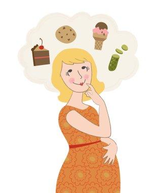 Pregnant Woman Craving Junk Food