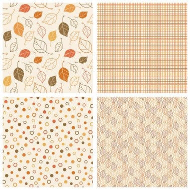 Autumn Seamless Patterns