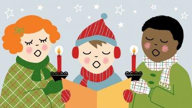 Children Christmas Caroling