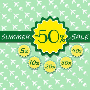 Summer sale with discounts