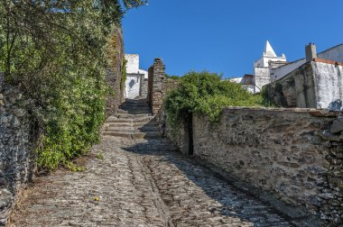 Portugal, Monsaraz . All the buildings and streets pavement made