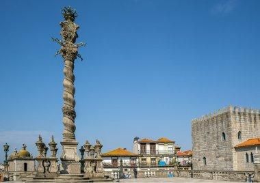 Portugal, Porto , carved shameful stone pillory for punishment