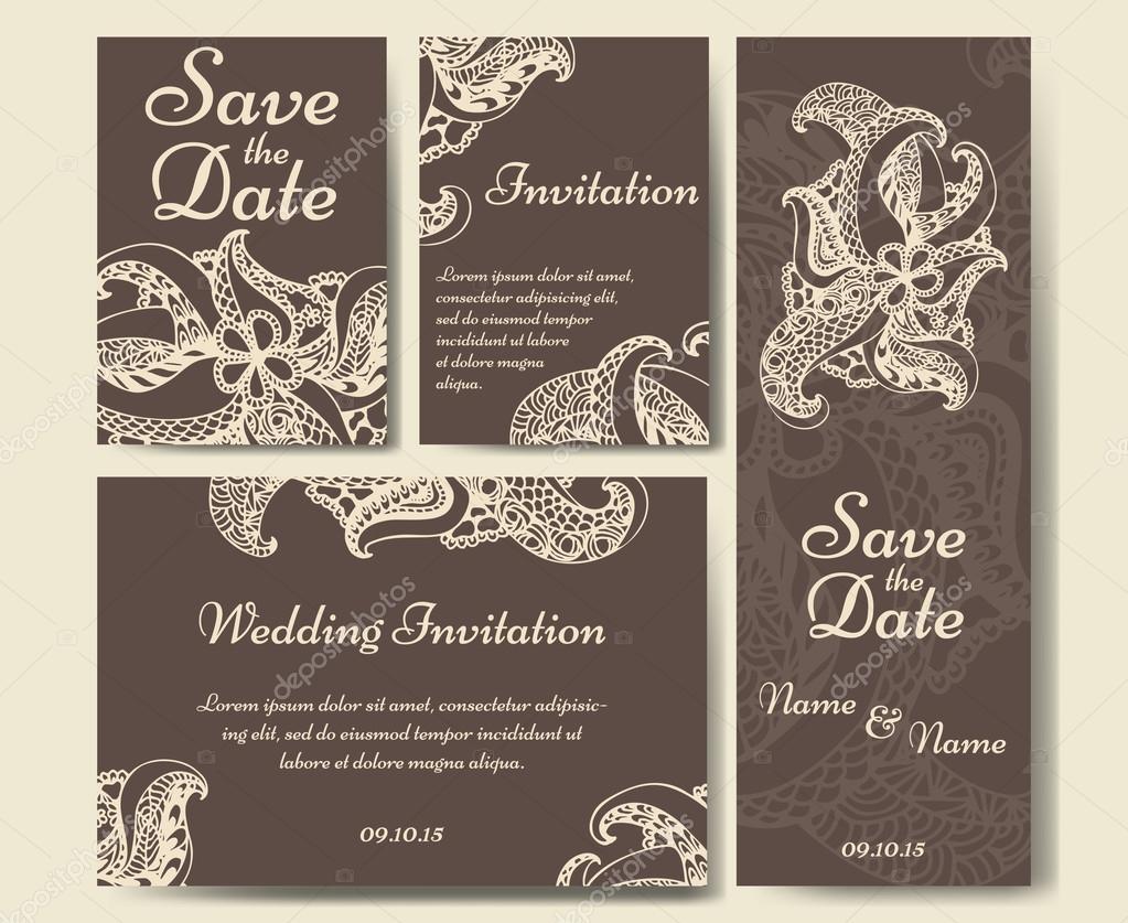 Vectores Invitaciones Formales A Eventos Plantilla De