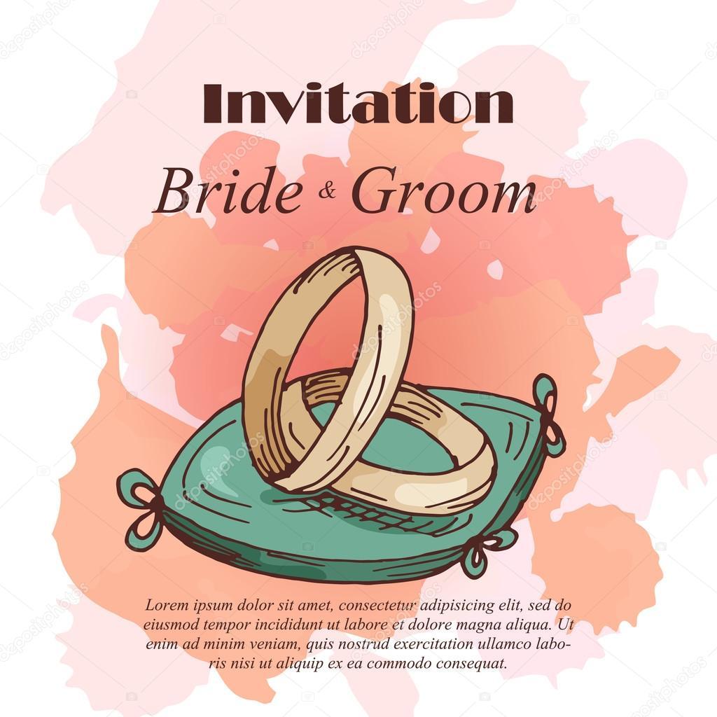 plantilla de vector de tarjetas para boda invitaciones para tarjeta