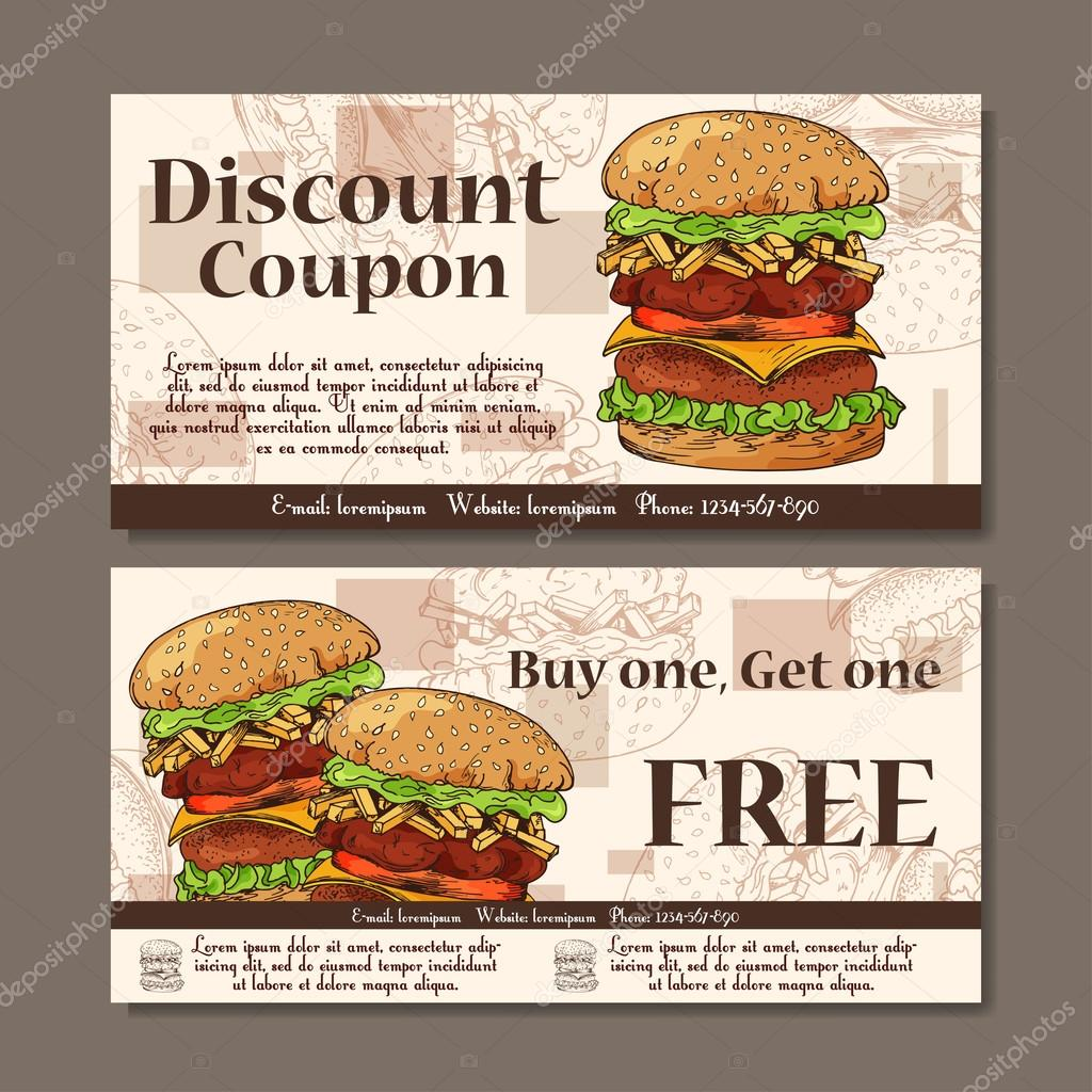 Restaurant coupon template template examples voucher template design modern style for cafe restaurant coupon for customer sale xflitez Image collections