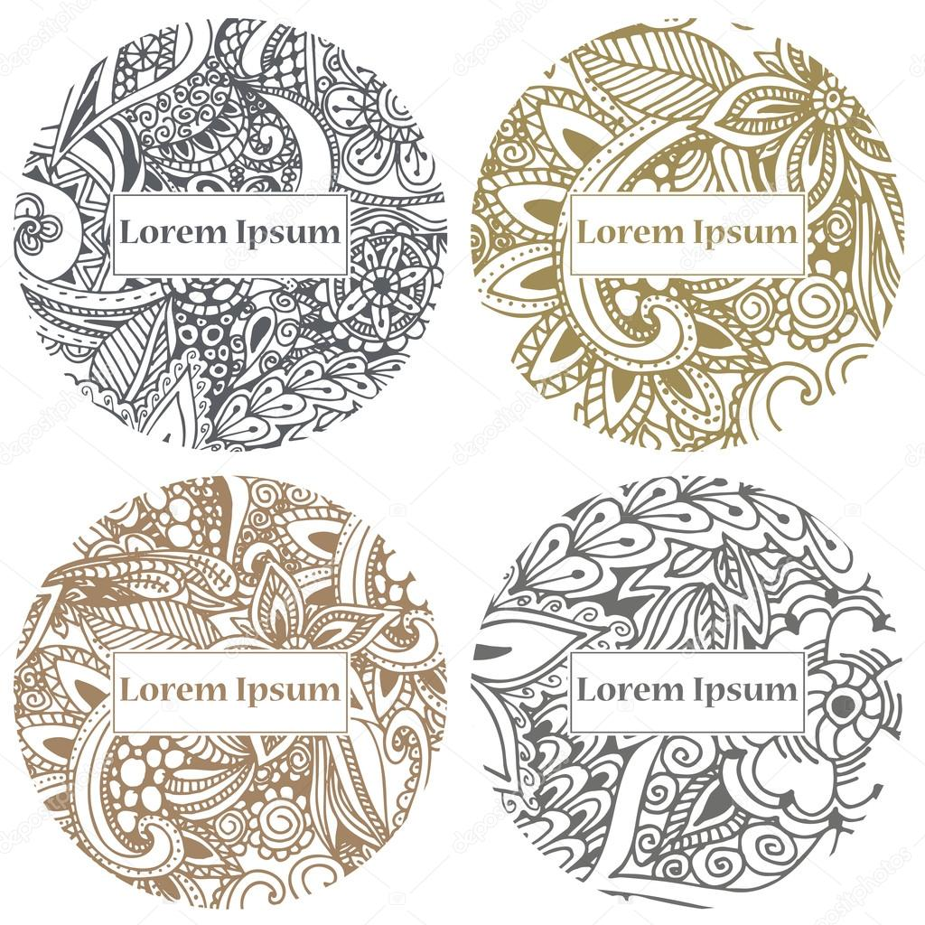 Doodle circle design abstract lace ornament vector illustration doodle circle design abstract lace ornament vector illustration with arabic motifs for card invitation scrap booking vetor por astarte7893 stopboris Images