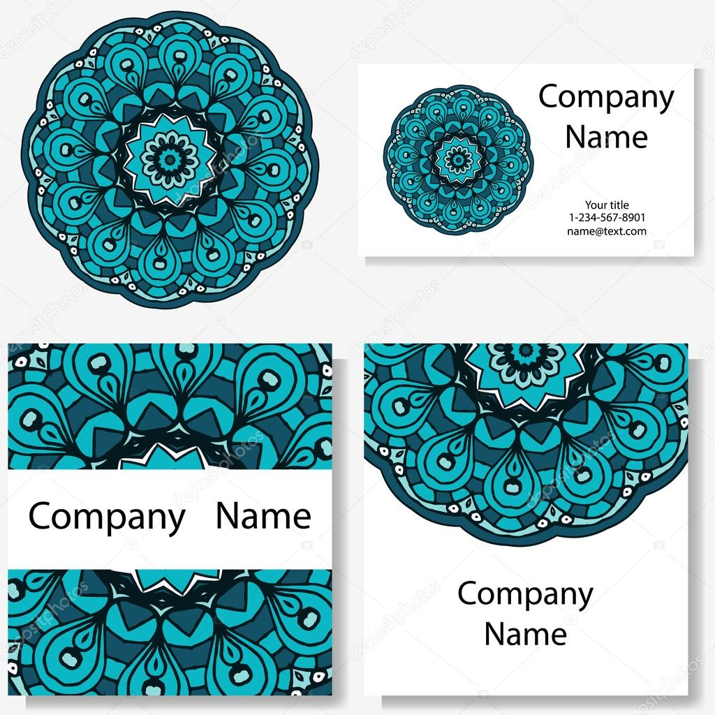 Tarjetas de dise o mandala y doodle de fondo elementos - Plantilla mandala pared ...