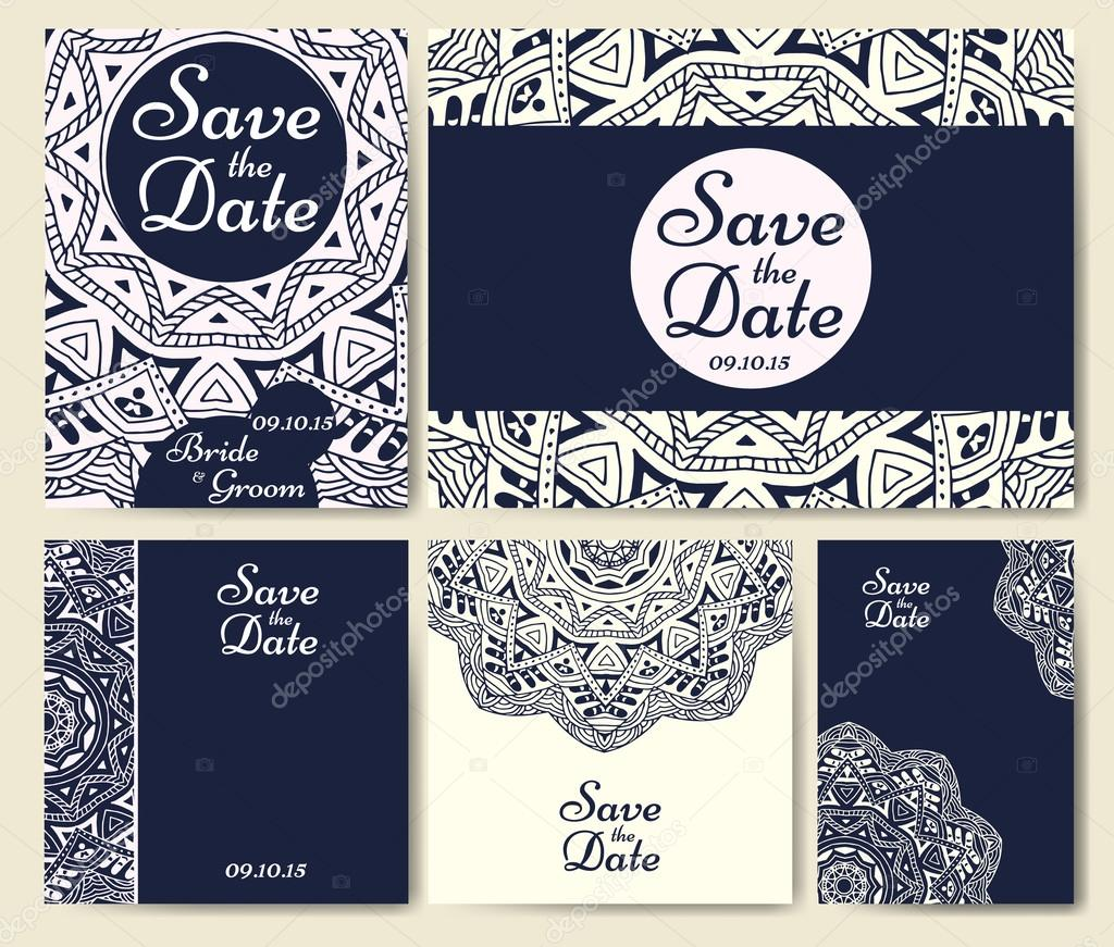 wedding cards template with individual concept design for invitation thank you card save the date card vector by astarte7893