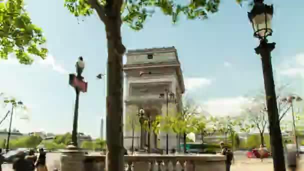 Hyperlapse Arc De Triomphe in Paris, Frankreich