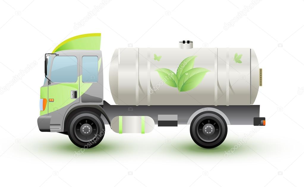 The truck natural gas ecology concept