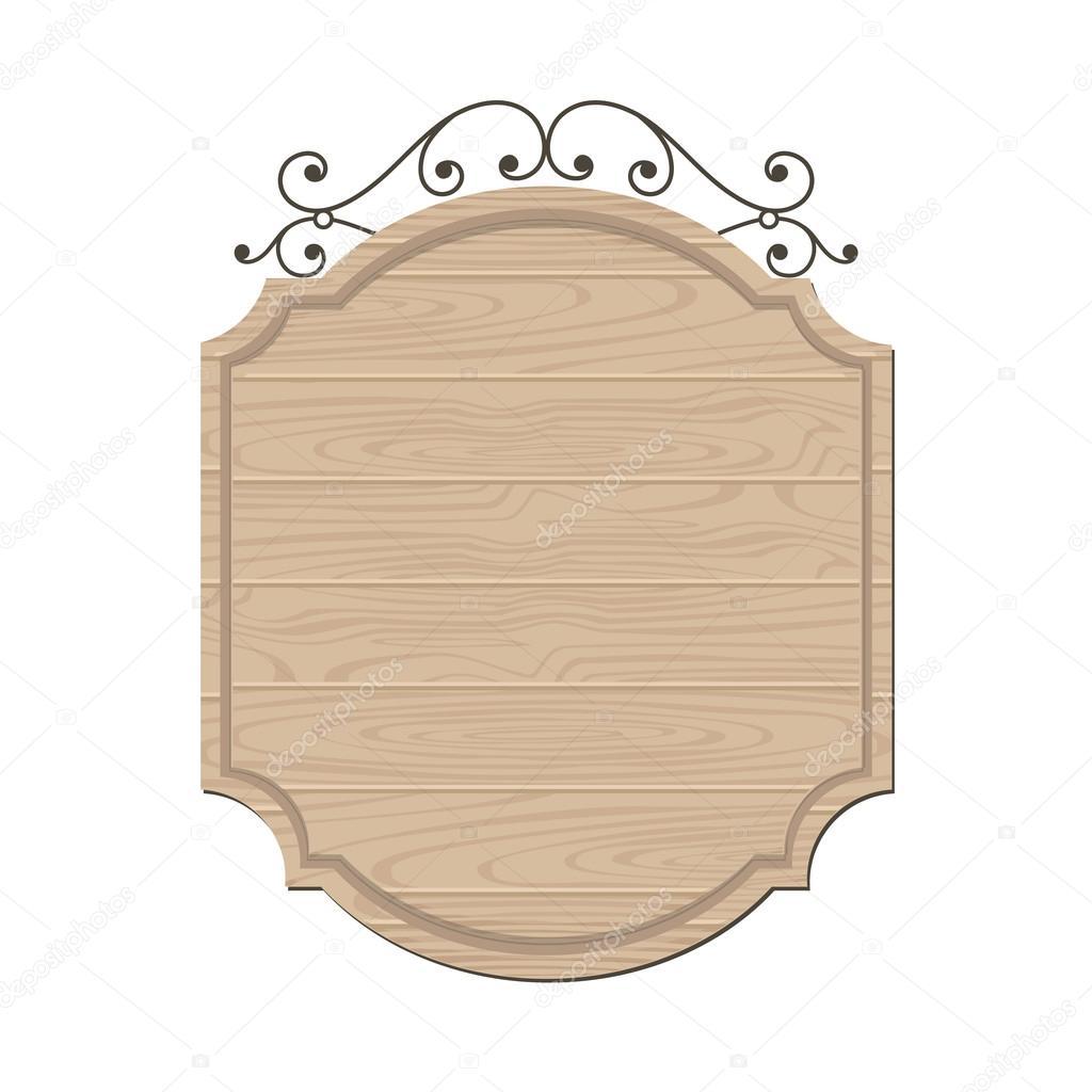 Modern wood classic sign