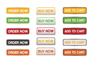 Buy now order and add to cart web botton set
