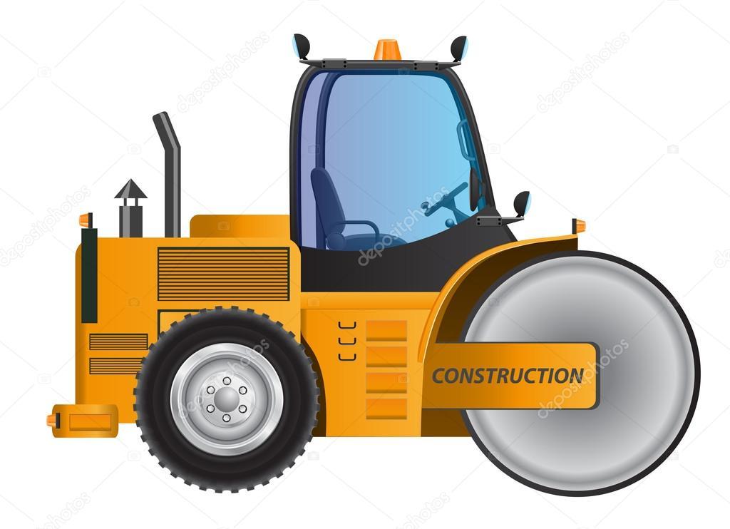Mod le de dessin vectoriel rouleau compresseur voiture jaune image vectorielle tomkdesign - Modele dessin voiture ...